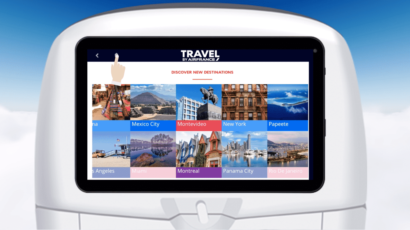 Travel by Airfrance - Digital Inflight Solution on IFE - PXCom
